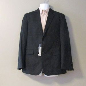 NEW Calvin Klein Black Wool Blend Blazer Jacket M